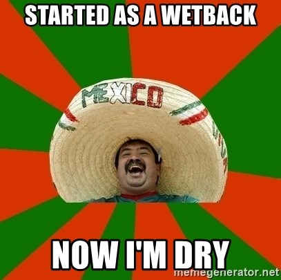 Successful Mexican - Started as a wetback now i'm dry