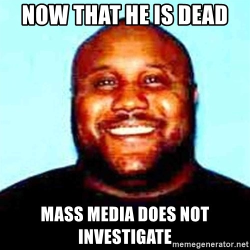 KOPKILLER - now that he is dead  mass media does not investigate