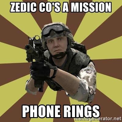 Arma 2 soldier - zedic co's a mission phone rings