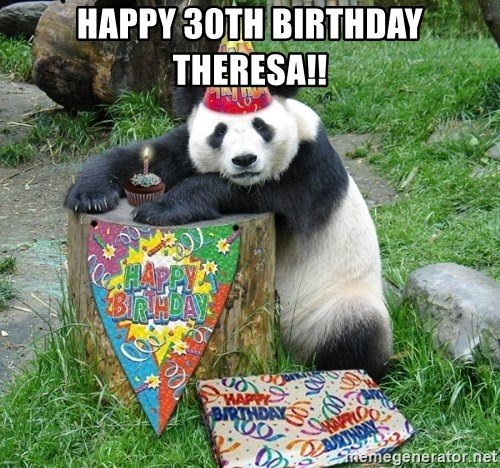 Happy Birthday Panda - Happy 30th Birthday Theresa!!
