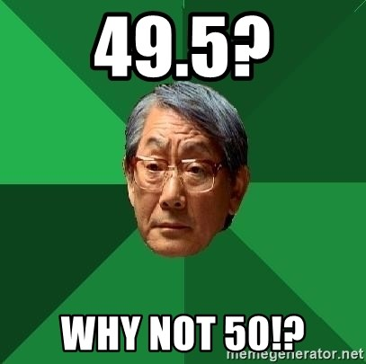 High Expectations Asian Father - 49.5? Why not 50!?