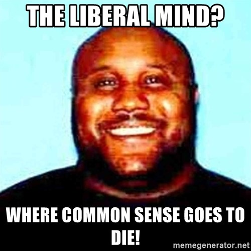 KOPKILLER - The Liberal mind?  Where common sense goes to die!
