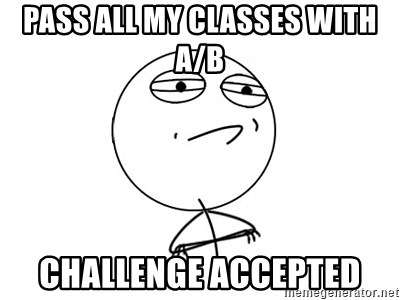 Challenge Accepted HD - Pass all my classes with a/b challenge accepted