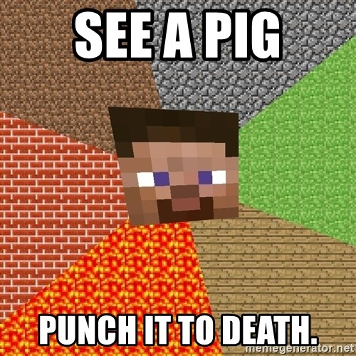 Minecraft Guy - SEE A PIG PUNCH IT TO DEATH.