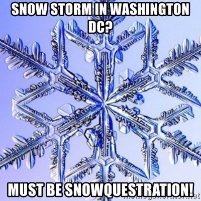 Special Snowflake meme - Snow Storm in Washington DC? Must Be SnowQuestration!