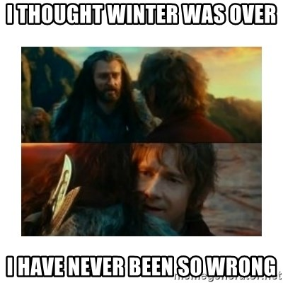 I have never been so wrong - I thought winter was over I have never been so wrong