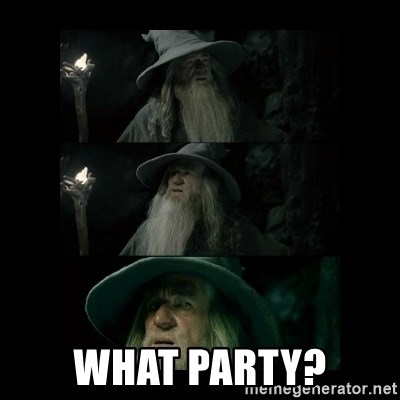 Confused Gandalf -  What party?