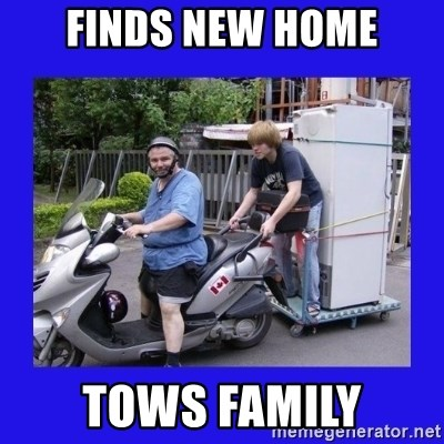 Motorfezzie - finds new home tows family
