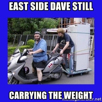 Motorfezzie - East side dave still carrying the weight