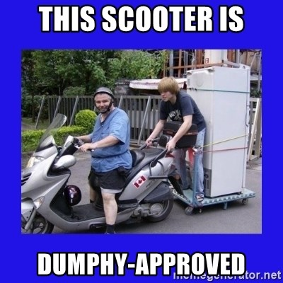 Motorfezzie - this scooter is dumphy-approved