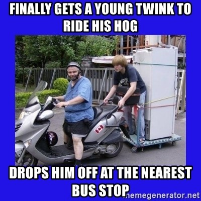 Motorfezzie - FINALLY GETS A YOUNG TWINK TO RIDE HIS HOG Drops him off at the nearest bus stop