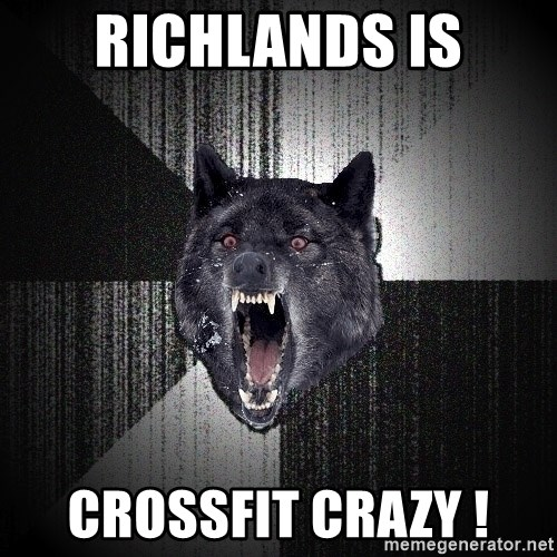 Insanity Wolf - richlands is crossfit crazy !