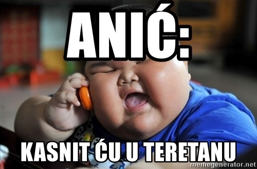 Fat Asian Kid - Anić: Kasnit ću u teretanu