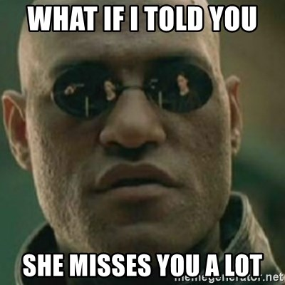 Nikko Morpheus - what if I told you  she misses you a lot