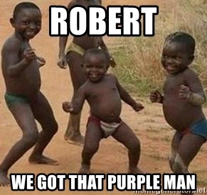 african children dancing - robert we got that purple man