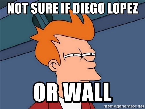 Futurama Fry - Not sure if diego lopez Or wall