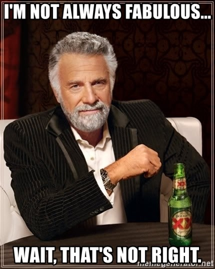 The Most Interesting Man In The World - I'm not always fabulous...  wait, that's not right.