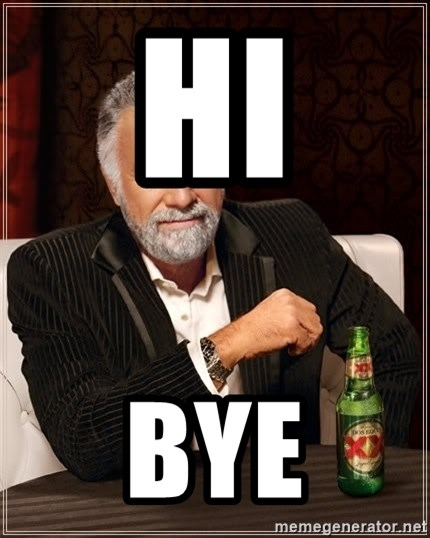 The Most Interesting Man In The World - hi bye