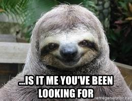Sexual Sloth -  ...is it me you've been looking for