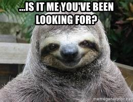 Sexual Sloth - ...is it me you've been looking for?
