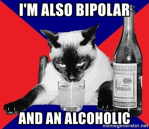 Alco-cat - I'm also Bipolar and an alcoholic