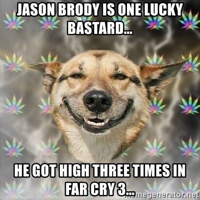 Stoner Dog - Jason brody is one lucky bastard... he got high three times in far cry 3...