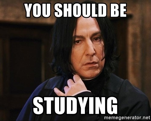 Professor Snape - You should be studying