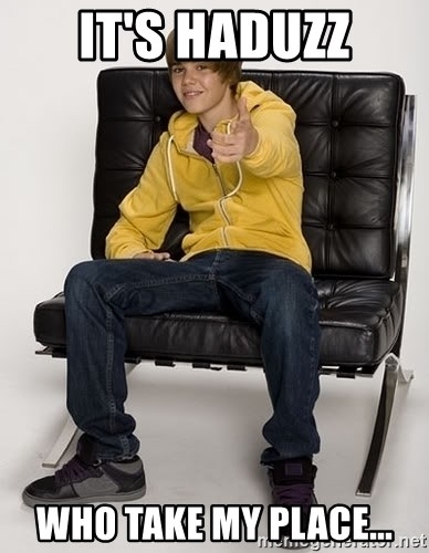 Justin Bieber Pointing - It's haduzz who take my place...