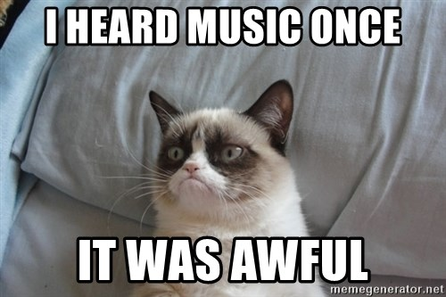 Grumpy cat good - i heard music once it was awful