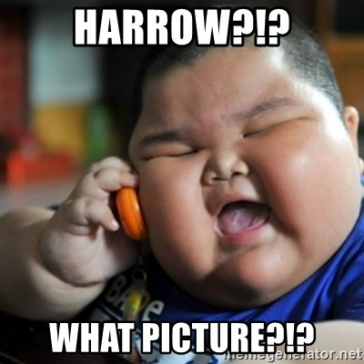 fat chinese kid - HARROW?!? WHAT PICTURE?!?