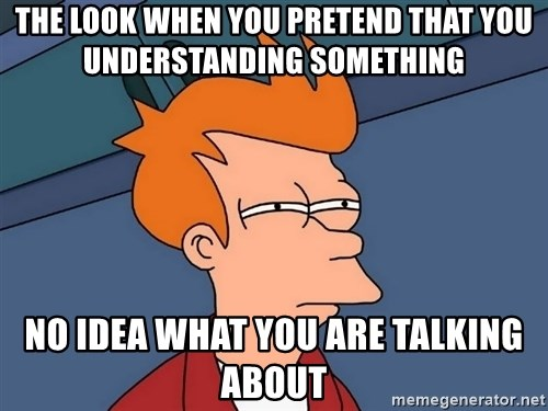 Futurama Fry - the look when you pretend that you understanding something no idea what you are talking about
