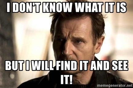 Liam Neeson meme - I don't know what it is But I will find it and see it!