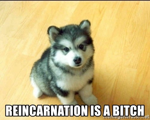 Baby Courage Wolf -  Reincarnation is a Bitch