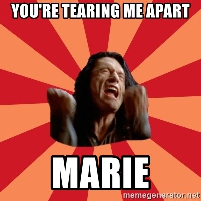 The Room - You're tearing me apart Marie