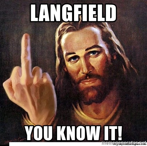 Jesus Ambassador To The Atheists - Langfield you know it!