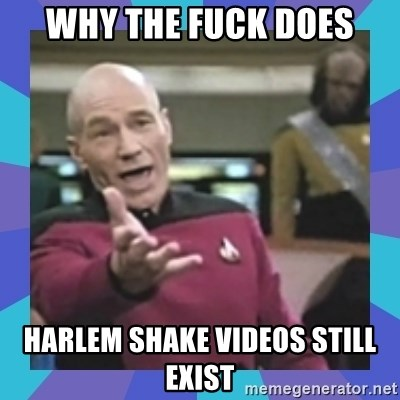 what  the fuck is this shit? - Why the fuck does Harlem shake videos still exist