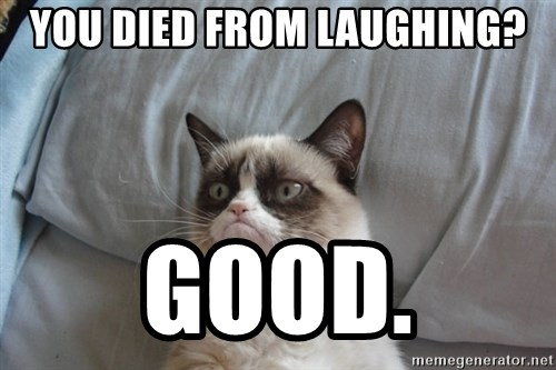 Grumpy cat good - You died from laughing? good.