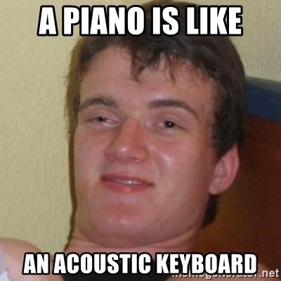 Really Stoned Guy - a piano is like an acoustic keyboard