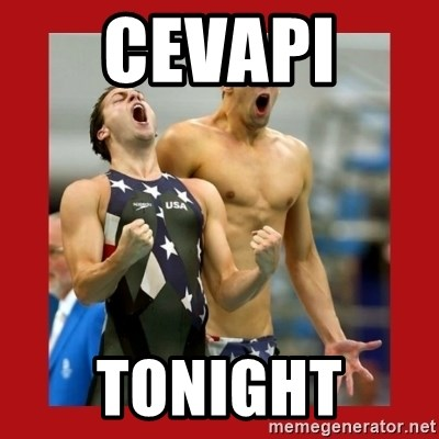 Ecstatic Michael Phelps - CEVAPI  TONIGHT