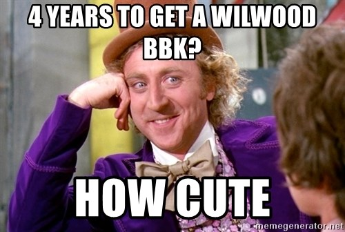 Willy Wonka - 4 years to get a wilwood bbk? how cute
