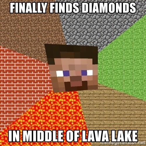 Minecraft Guy - FINALLY FINDS DIAMONDS IN MIDDLE OF LAVA LAKE