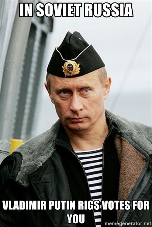 Russian Awesome Face - in soviet russia vladimir putin rigs votes for you