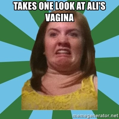 Disgusted Ginger - takes one look at ali's vagina