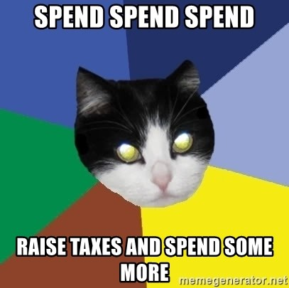 Winnipeg Cat - SPend spend spend raise taxes and spend some more
