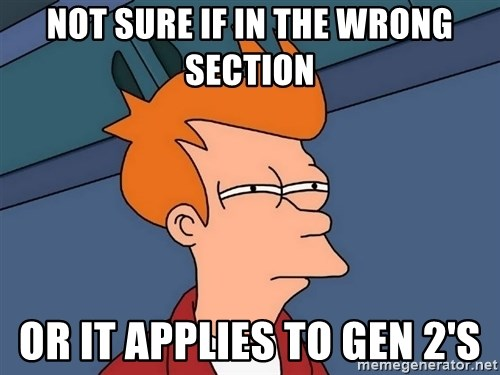 Futurama Fry - not sure if in the wrong section or it applies to gen 2's
