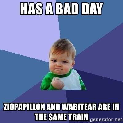 Success Kid - has a bad day ziopapillon and wabitear are in the same train