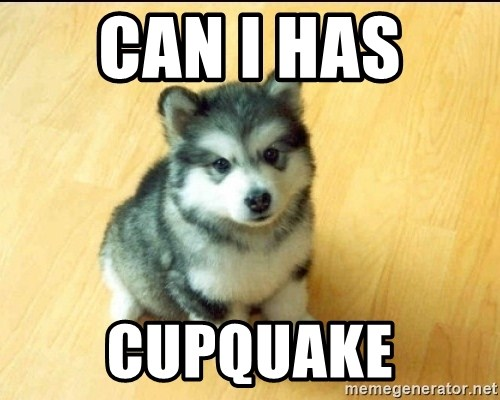 Baby Courage Wolf - can i has  cupquake