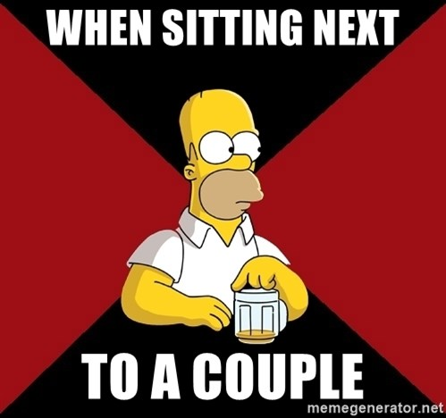 Homer Jay Simpson - WHEN SITTING NEXT  TO A COUPLE