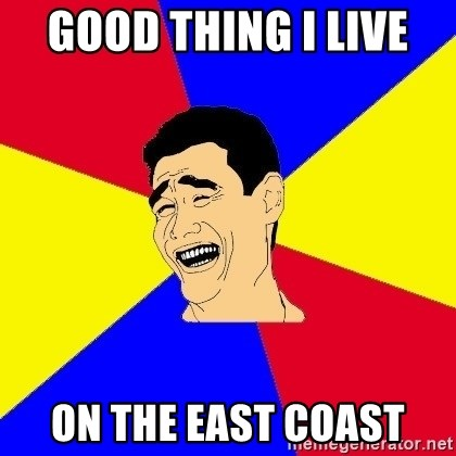 journalist - good thing I live  on the east coast