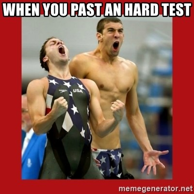 Ecstatic Michael Phelps - WHEN YOU PAST AN HARD TEST